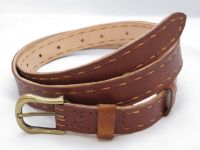 BELT - DARK TAN A